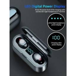 Fone de ouvido tws F9 bluetooth wireless sem fio