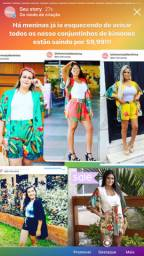 Conjunto de kimonos