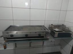 Kit Chapa de lanche FIRE e Fritadeira Elétrica 2 bocas de 5 L cada
