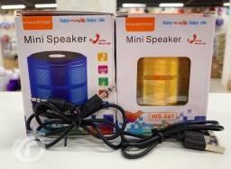 Mini Caixinha Som Bluetooth Portátil Usb Speaker Ws-887