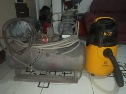 Compresor de ar é aspirador do pó
