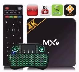 Tv Box Mx9 4k Smart Tv Wifi + Teclado Led