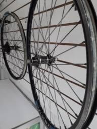 Par de rodas 26 aero + freio cantilever