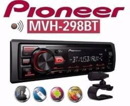 Mp3 Player Automotivo Pioneer Mvh-298bt 1 Din Bluetooth Usb