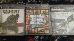 GTA V+ Call of Duty +Assassins Creed IV ps3