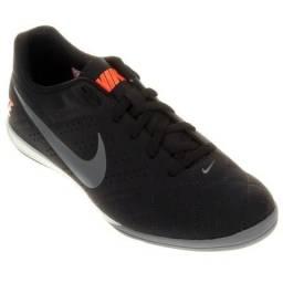 Chuteira Futsal Nike Preto+Cinza Nº 39