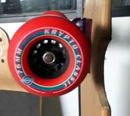 Skate longboard rodas kryptonics 76mm