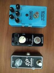 Mxr Analog Chorus - Xotic Ep Booster - Mooer Trelicopter - Case Gator