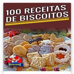 Livro com 100 receitas de Biscoitos - Novo
