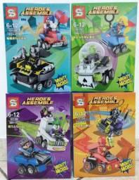 Lego DC Personagem e Vilão com Veículo