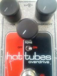 Pedal Electro Harmonix Hot Tubes Overdrive Nano, Drive classico Timbraço! Old school rock