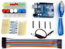 Arduino Uno Atmega 328 Smd kit com varias peças