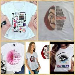 T-shirts no atacado - Revenda-Personalize
