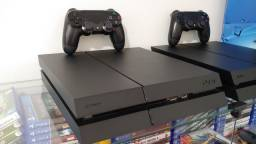 Playstation 4 Fat 500GB Preto Fosco / Troco / Parcelo
