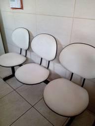 Cadeira tripla mandarina