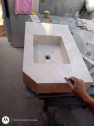Pias nichos sobre por tudo em porcelanato e granito