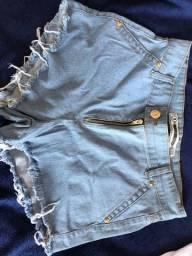 Short jeans novo 36 por 20,00