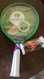 """Raquete Badminton + rede """"volei"""""""