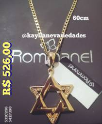 Estrela de Davi Rommanel 60cm Cordão Masculino Completo