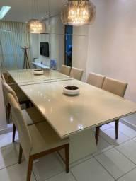 Mesa de jantar 1,10x1,50 com 4 cadeiras
