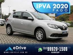 Renault Sandero Expression Flex 1.6 16V 5p - Carro Muito Novo - Lindo - Faço Troca - 2019