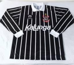 """Camisa do Corinthians 1993/94 Finta/Kalunga manga longa """"raríssima"""""""