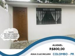 Colombo - Casa dos fundos para locação com água e luz incluso - Apenas R$800,00