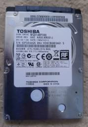 HD Toshiba  notebook 500 gigas
