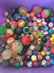 Coleção de bolinhas de borrachas