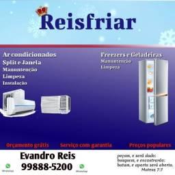 Refrigeração Ar condicionado geladeira freezer