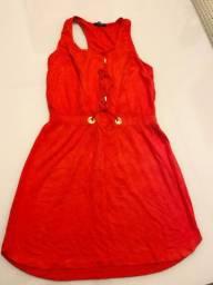 Vestido Acinturado vermelho Tamanho P