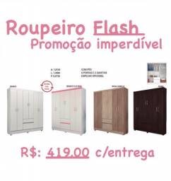 Roupeiro 6P com gavetas Barato