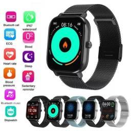 Relógio Smartwatch Colmi DT35 Pulseira de Aço Faze Recebe Ligação