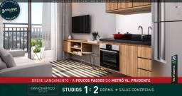 Studios 1 e 2 dorms + Salas comercias ao lado do metrô Vila Prudente Linha Verde