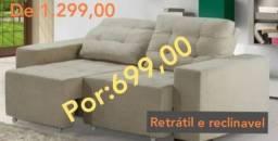 Sofá retratil e reclinavel(wap *