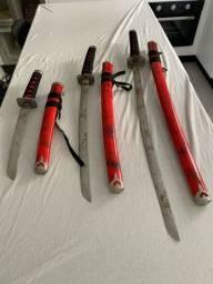 Espadas de Samurai, réplicas em ferro