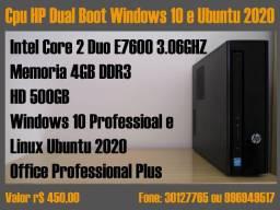 Cpu HP dual boot Windows 10 e Ubuntu