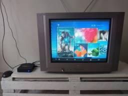 """Tv de """"21"""" e tv box"""