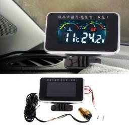Voltimetro medidor de temperatura e bateria