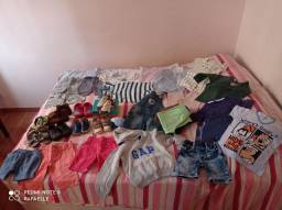 Lote de roupas menino