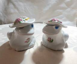 Coleção sapinhos em cerâmica