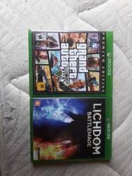 Vendo jogo GTA V E LICHDON XBOX ONE USADO