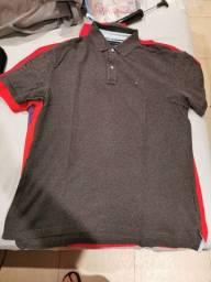 Três camisas polo Tommy Hilfiger XL (extra large) nas cores Cinza, Lilás e Vermelha