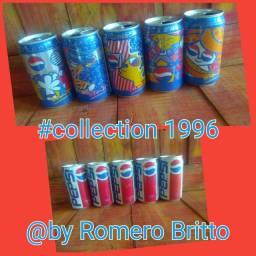 Coleção completa Pepsi Romero Britto 1996
