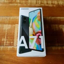 Samsung A71 128gb preto lacrado zero nf/ garantia aceito cartão/celular como pagto