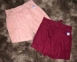 Shorts em linho TAM M/G veste 38/40