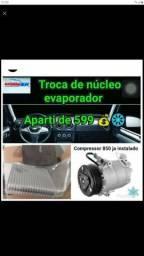 Troca de nucleo evaporador
