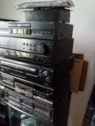 Receiver Pioneer, 2 Decks technics e cd pioneer (tudo 200,00 no estado)