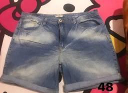 Short jeans feminino Plus Size 48