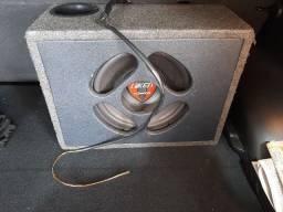 """Caixa Selada 12"""" falante Hiken Furious + Potência Corzus Mono SW200 (passo cartão)"""